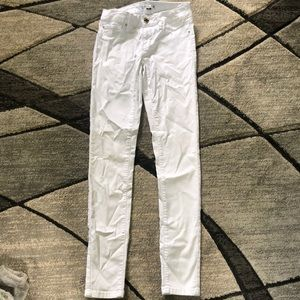 small white jeans